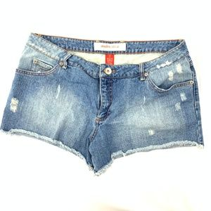 Mossimo Distressed Denim Shorts Plus Size 17